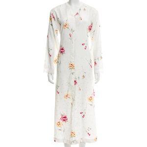 Oscar de la Renta Floral Print Midi/Pajama Dress